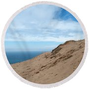 A Lot Of Sand Round Beach Towel