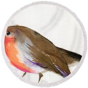 A Magical Little Robin Called Wisp Round Beach Towel
