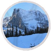 A Majestic Winter View Round Beach Towel