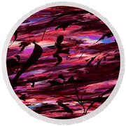 A Make Believe Perception Round Beach Towel