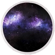 A Massive Nebula Covers A Huge Region Round Beach Towel by Justin Kelly