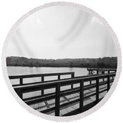 A Matter Of Perspective Round Beach Towel