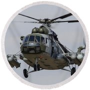 A Mil Mi-17 Helicopter Of The Czech Air Round Beach Towel