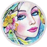 A Moment For Dreaming Round Beach Towel