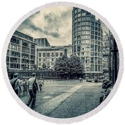 A Moment In Southwark, London. Round Beach Towel