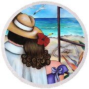 A Moment Like This Round Beach Towel