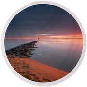 A Moment Of Shine Round Beach Towel