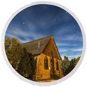 A Moonlit Nightscape Of The Historic Round Beach Towel