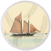 A Morning In Maine Round Beach Towel