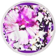 A Mothers Heart Round Beach Towel