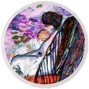 A Mothers Love Round Beach Towel