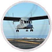 A Mv-22 Osprey Aircraft Prepares Round Beach Towel