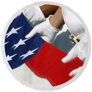 A Naval Station Pearl Harbor Ceremonial Round Beach Towel