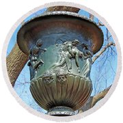 A Navy Yard Urn In Lafayette Square -- West Round Beach Towel