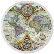 A New And Accvrat Map Of The World 1626.A New And Accvrat Map Of The World 1626 Metal Print By R Muirhead Art