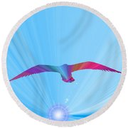 A New Day Dawning Round Beach Towel