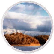 A New Day Dawns Round Beach Towel