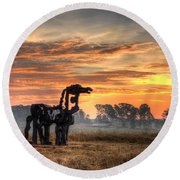 A New Day The Iron Horse Round Beach Towel