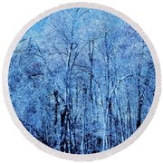 A New Group Of Trees In The Making Round Beach Towel