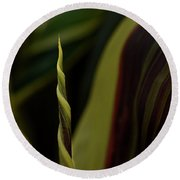A New Leaf Is Born Round Beach Towel