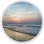 A New Morning Round Beach Towel
