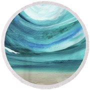 A New Start Wide- Art By Linda Woods Round Beach Towel
