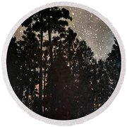 The Forest Night Round Beach Towel