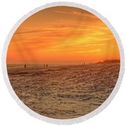 A Night To Remember Round Beach Towel