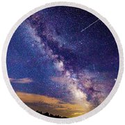 A Northern View Of The Milky Way Round Beach Towel