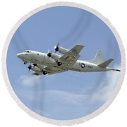 A P-3c Orion Aircraft Takes Round Beach Towel