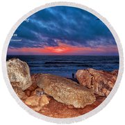 A Painted Sky For The Poet's Eye Round Beach Towel
