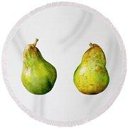 A Pair Of Pears Round Beach Towel