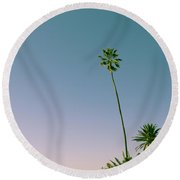 A Palm On Its Own Round Beach Towel