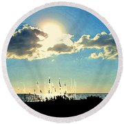 A Passing Cloud Round Beach Towel