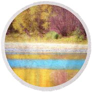 A Pastel Autumn Round Beach Towel
