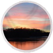A Pastels Eve Round Beach Towel