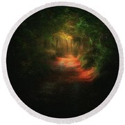 A Path In The Dark Round Beach Towel