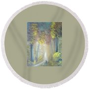 A Peaceful Journey Round Beach Towel