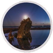 A Peaceful Night Round Beach Towel
