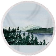 A Peaceful Place Round Beach Towel