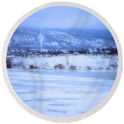 A Penticton Winter Round Beach Towel