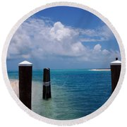 A Perfect Day Round Beach Towel by Susanne Van Hulst