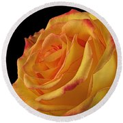 A Perfect Rose #2 Round Beach Towel
