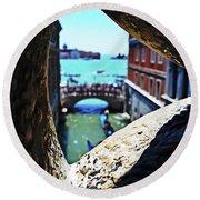 A Piece Of Venice Round Beach Towel