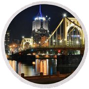 A Pittsburgh Panorama Round Beach Towel