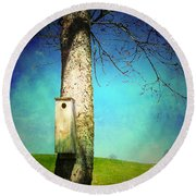 A Place Called Home Round Beach Towel