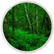 A Place In The Forest Round Beach Towel