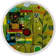 A Place To Grow II Round Beach Towel