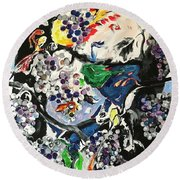 A Point Of View Round Beach Towel