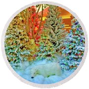 A Polar Bear Christmas 2 Round Beach Towel